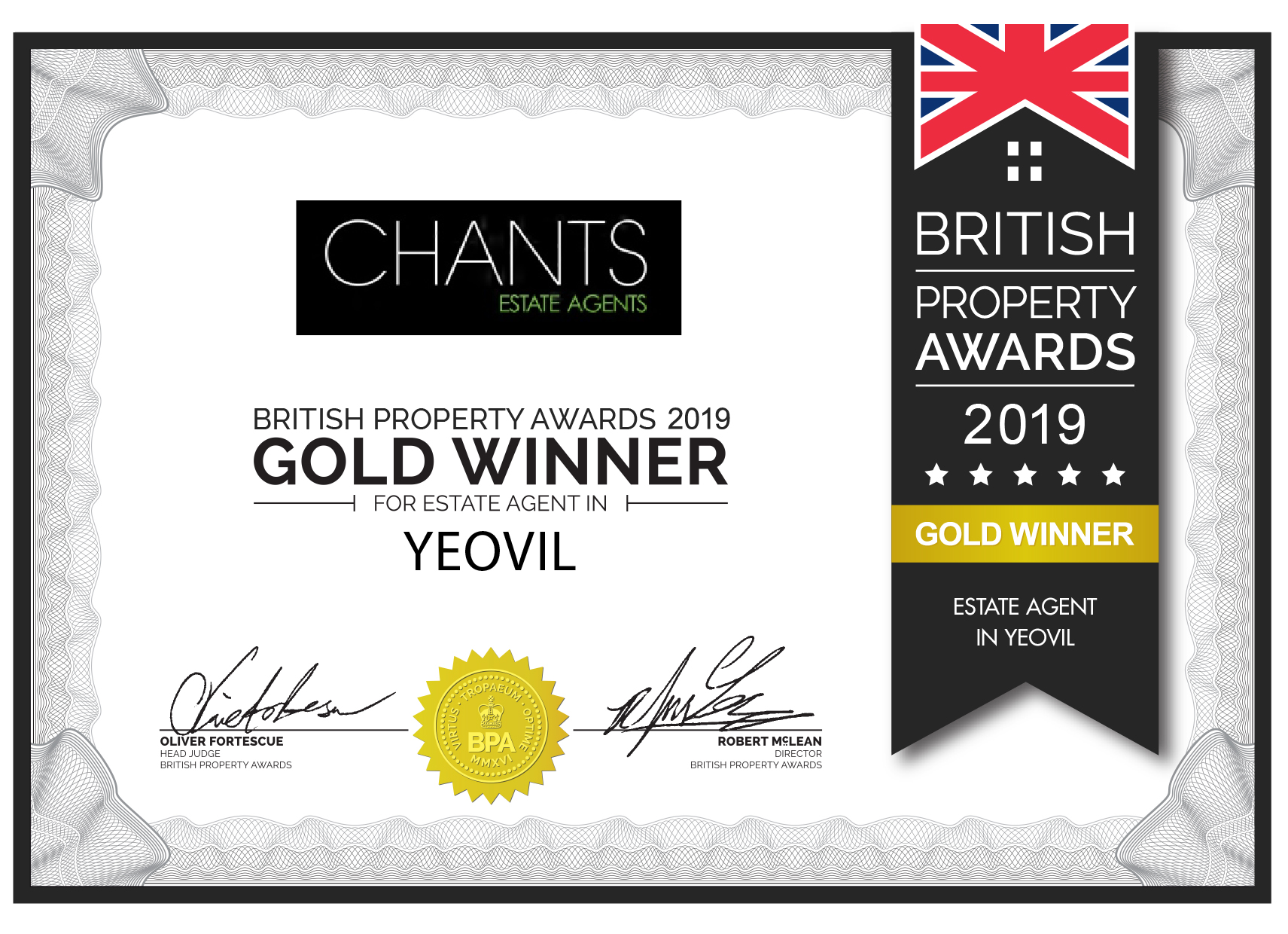 Chants awarded the British Property Award 2019 for Yeovil